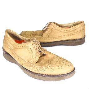 Rockport Tan Leather Wingtip Oxford Shoes SH0841